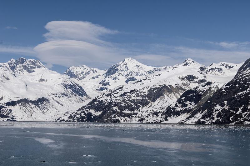 Clouds over glacier bay